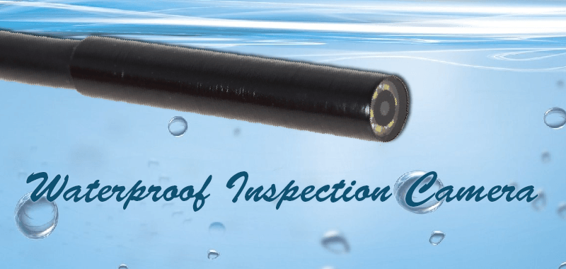 Waterproof inspection camera – long, lean and lit.